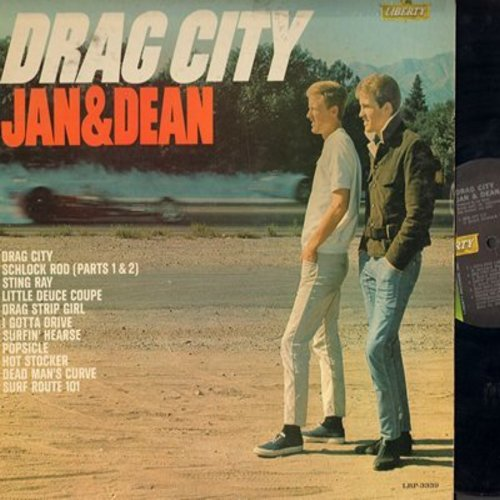 Jan & Dean - Drag City: Sting Ray, Dead Man's Curve, Popsicle, Little Deuce Coupe, Drag Strip Girl (Vinyl MONO LP record) - VG7/VG6 - LP Records