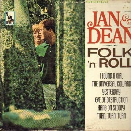 Jan & Dean - Folk 'N Roll: Yesterday, The Universal Coward, Hang On Sloopy, Turn Turn Turn, It Ain't Me Babe (Vinyl STEREO LP record) - VG7/VG7 - LP Records