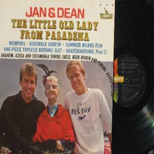 Jan & Dean - The Little Old Lady From Pasadena: Memphis, Sidewalk Surfin', Summer Means Fun (Vinyl STEREO LP record) - EX8/VG7 - LP Records