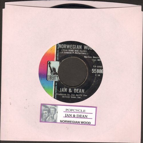 Jan & Dean - Popsicle/Norwegian Wood (with juke box label) - EX8/ - 45 rpm Records