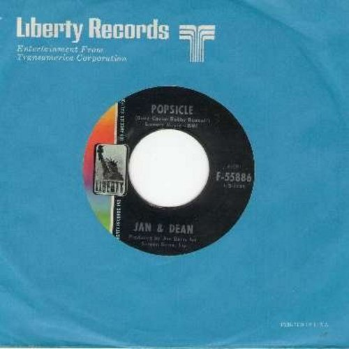Jan & Dean - Popsicle/Norwegian Wood (with Liberty company sleeve) - EX8/ - 45 rpm Records
