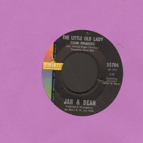 Jan & Dean - The Little Old Lady (From Pasadena)/My Mighty G. T. O.  - VG7/ - 45 rpm Records