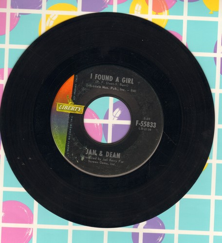 Jan & Dean - I Found A Girl/It's A Shame To Say Goodbye - VG7/ - 45 rpm Records