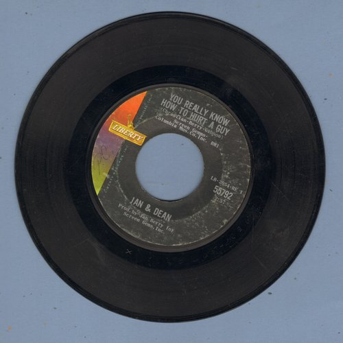 Jan & Dean - You Really Know How To Hurt A Guy/It's As Easy As 1, 2, 3  - VG7/ - 45 rpm Records