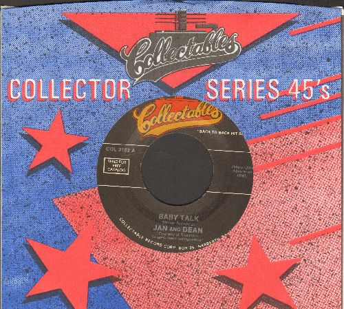 Jan & Dean - Baby Talk/Double Shot Of My baby's Love (by The Swingin' Medallions on flip-side) (re-issue with Collectables company sleeve) - EX8/ - 45 rpm Records