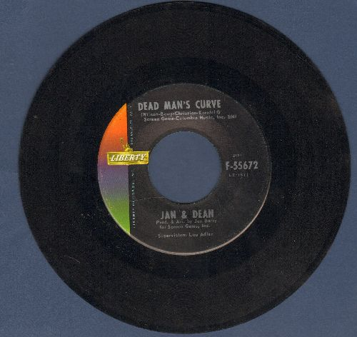 Jan & Dean - Dead Man's Curve/The New Girl In School (with juke box label) - EX8/ - 45 rpm Records