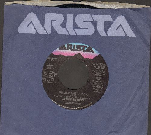 Street, Janey - Under The Clock (double-A-sided DJ advance pressing with Arista company sleeve) - NM9/ - 45 rpm Records