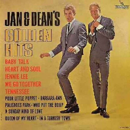 Jan & Dean - Golden Hits: Baby Talk, Heart & Soul,  We Go Together, Who Put The Bomp, A Sunday Kind Of Love (Vinyl MONO LP record) (sol) - VG7/VG7 - LP Records