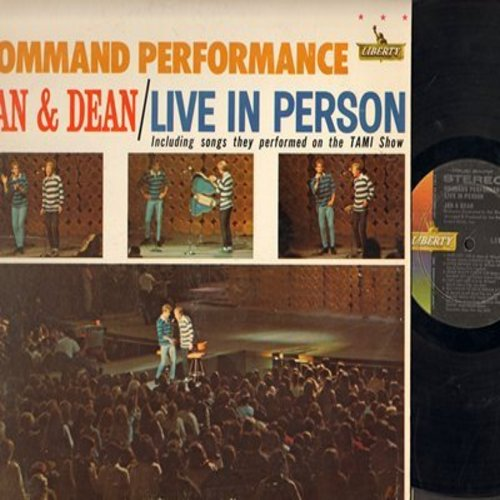 Jan & Dean - Command Performance: All I Have To Do Is Dream, Little Honda, I Get Around, Sidewalk Surfin', Do Wah Diddy Diddy, Surf City, Dead Man's Curve (Vinyl STEREO LP record) - NM9/EX8 - LP Records