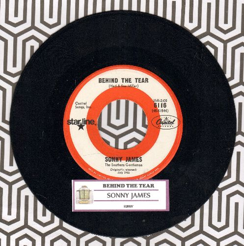 James, Sonny - Behind The Tear/Runnin' (re-issue with juke box label) - NM9/ - 45 rpm Records