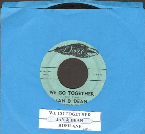 Jan & Dean - We Go Together/Rosie Lane (with juke box label) - VG7/ - 45 rpm Records