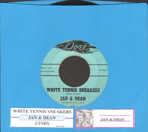 Jan & Dean - White Tennis Sneakers/Cindy (with juke box label) - VG7/ - 45 rpm Records