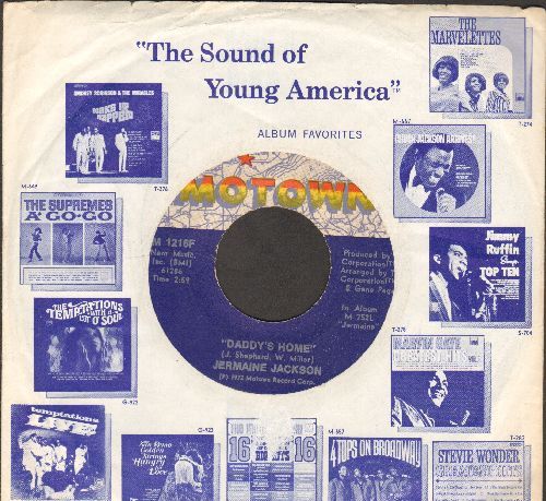 Jackson, Jermaine - Daddy's Home/Take Me In Your Arms (with Motown company sleeve) - EX8/ - 45 rpm Records