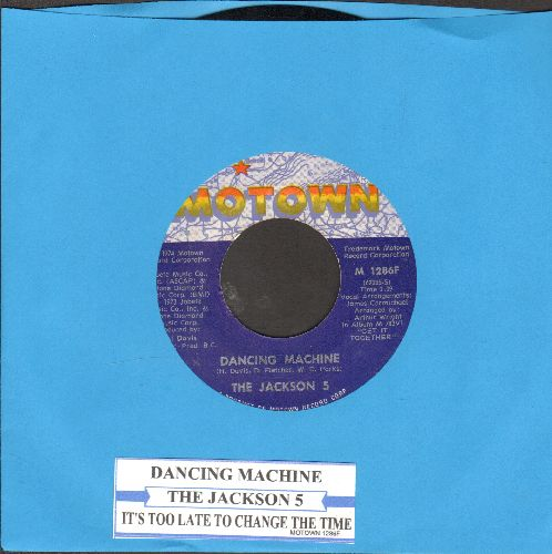 Jackson 5 - Dancing Machine/It's Too Late To Change The Time (with juke box label) - EX8/ - 45 rpm Records