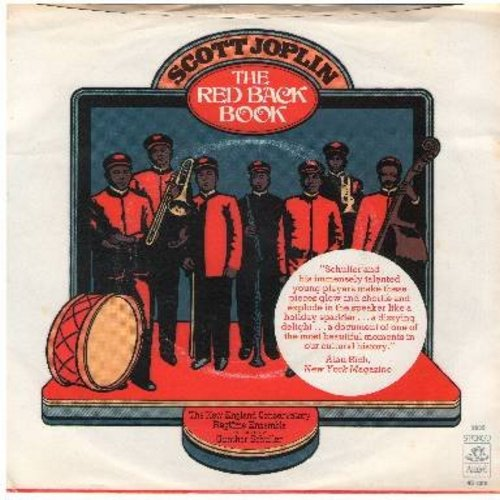 Joplin, Scott - The Red Back Book: The New England Conservatory Ragtime Ensemble conducted by Gunther Schuller: Maple Leaf Rag/The Cascades (DJ advance pressing with picture sleeve) - NM9/EX8 - 45 rpm Records