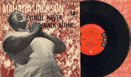 Jackson, Mahalia - You'll Never Walk Alone: Trouble In My Way, Down By The Riverside, Without A Song + 2 (10 inch vinyl MONO LP record with picture cover, 1952 first pressing) - NM9/EX8 - LP Records