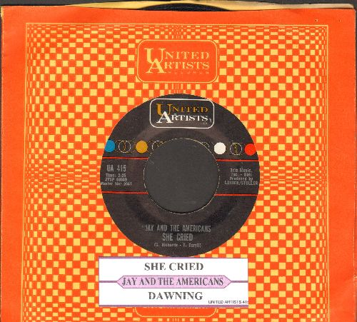 Jay & The Americans - She Cried/Dawning (eith juke box label and company sleeve) - EX8/ - 45 rpm Records