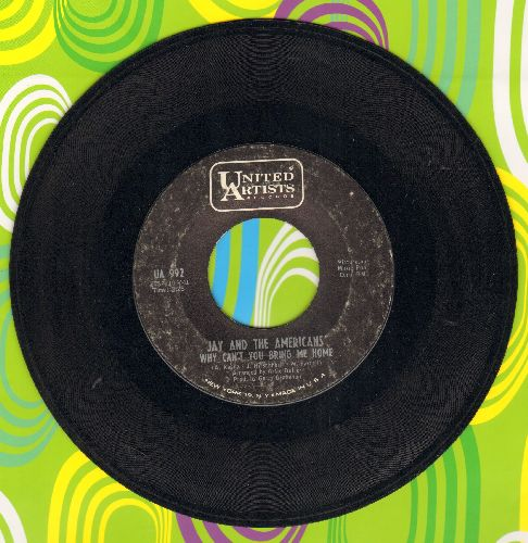 Jay & The Americans - Why Can't You Bring Me Home/Baby Stop Your Cryin' - VG7/ - 45 rpm Records