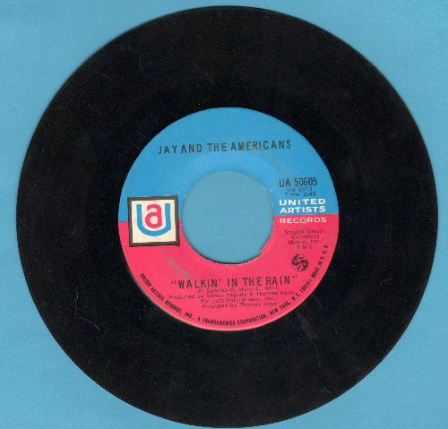 Jay & The Americans - Walkin' In The Rain/I'd Kill For The Love Of A Lady (pink/blue label) - EX8/ - 45 rpm Records