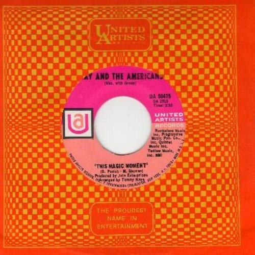 Jay & The Americans - This Magic Moment/Since I Don't Have You (with vintage United Artists company sleeve) - NM9/ - 45 rpm Records