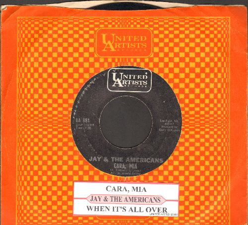 Jay & The Americans - Cara, Mia/When It's All Over (with juke box label and company sleeve) - EX8/ - 45 rpm Records