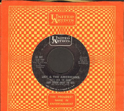 Jay & The Americans - Let's Lock The Door (And Throw Away The Key)/I'll Remember You (with vintage United Artists company sleeve) - EX8/ - 45 rpm Records
