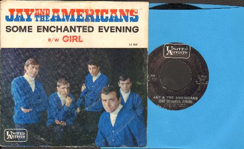Jay & The Americans - Some Enchanted Evening/Girl (with picture sleeve) - EX8/EX8 - 45 rpm Records