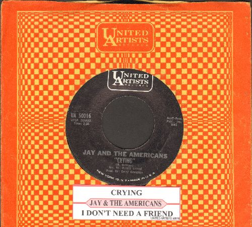 Jay & The Americans - Crying/I Don't Need A Friend - NM9/ - 45 rpm Records