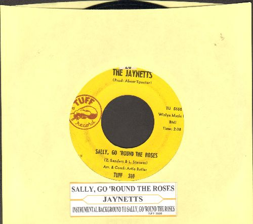 Jaynetts - Sally, Go 'Round The Roses/Instrumental sing-along version of hit (with juke box label) - EX8/ - 45 rpm Records