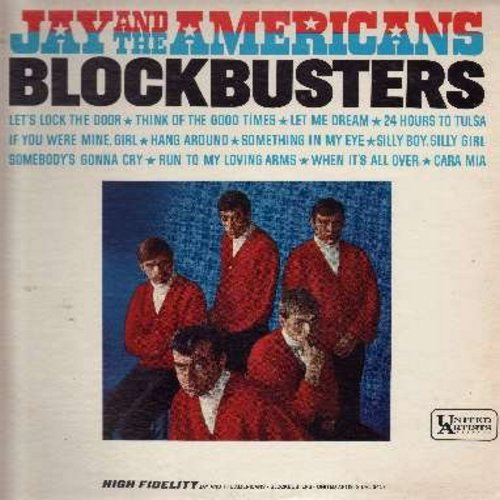 Jay & The Americans - Blockbusters: Cara Mia, 24 Hours From Tulsa, Let's Lock The Door (And Throw Away The Key), Something In My Eye (Vinyl MONO LP record) - EX8/VG7 - LP Records