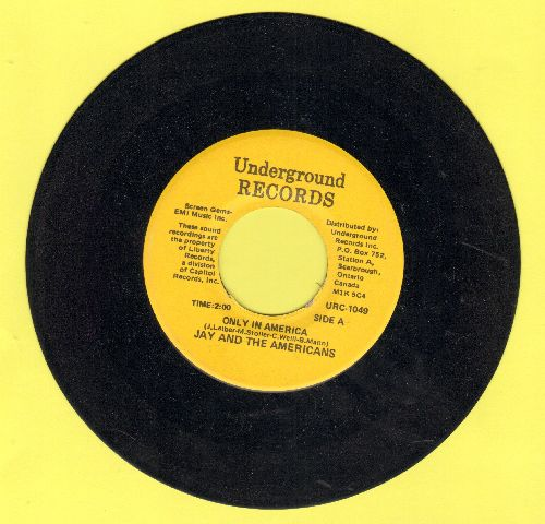 Jay & The Americans - Only In America/Some Enchanted Evening (double-hit re-issue)  - NM9/ - 45 rpm Records