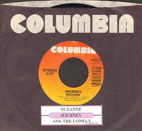Journey - Suzanne/Ask The Lonely (with juke box label and Columbia company sleeve) - NM9/ - 45 rpm Records