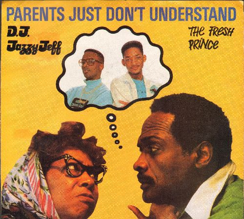 Jazzy Jeff & The Frech Prince - Parents Just Don't Understand/Parents Just Don't Understand (Instrumental Version) (with pictue sleeve) - EX8/VG6 - 45 rpm Records