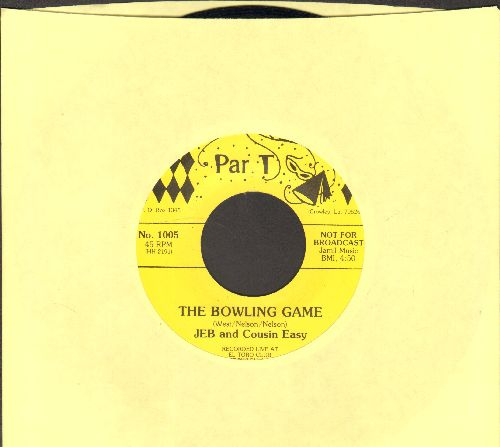 Jeb & Cousin Easy - The Bowling Game/Oklahoma Indian (Risque humor)  - EX8/ - 45 rpm Records