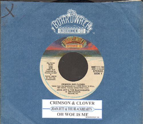 Jett, Joan & The Blackhearts - Crimson And Clover/Oh Woe Is Me (with juke box label and Broadway company sleeve) - VG7/ - 45 rpm Records