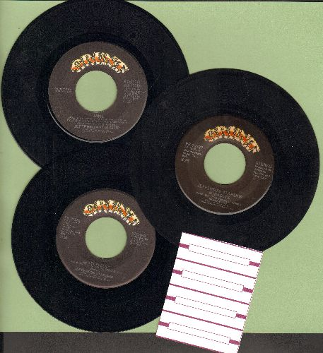 Jefferson Starship - 3-Pack first issues includes hits Miracles, Crazy Feelin' and Jane (shipped in plain white paper sleeves with 4 blank juke box labels) - EX8/ - 45 rpm Records