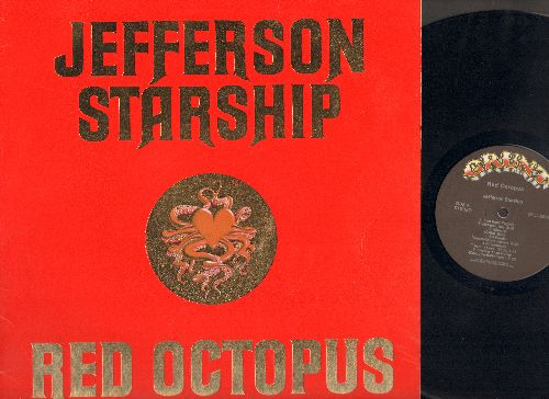 Jefferson Starship - Red Octopus: Fast Buck Freddie, Miracles, Git Fiddler, Al Garimaso, Sweeter Than Honey, Play On Love, Tumblin, I Want To See Another World, Sandalphon, There Will Be Love (Vinyl LP record) - NM9/EX8 - LP Records