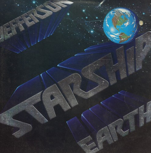 Jefferson Starship - Earth: Love Too Good, Skateboard, Fire, All Night Long, Show Yourself, Take Your Time (Vinyl STEREO LP record) - NM9/EX8 - LP Records