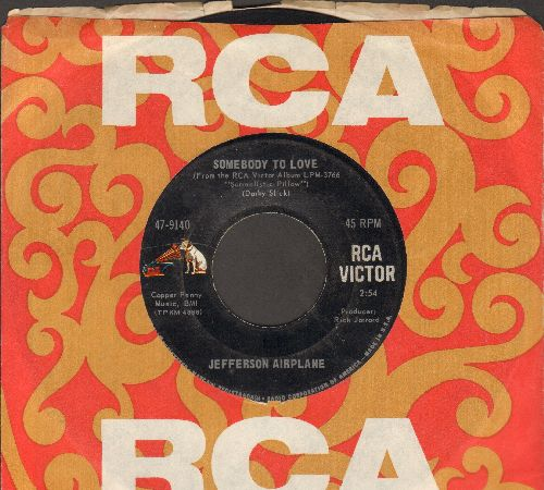 Jefferson Airplane - Somebody To Love/She Has Funny Cars (with vintage RCA company sleeve) - EX8/ - 45 rpm Records