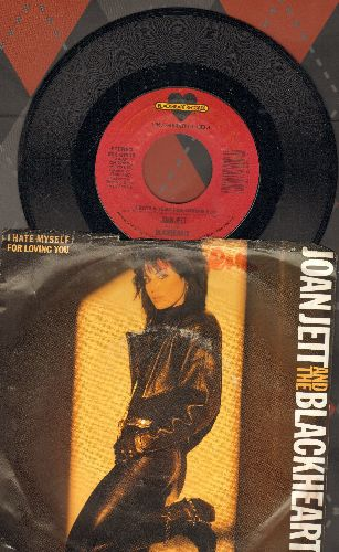 Jett, Joan & The Blackhearts - I Hate Myself For Loving You/Love Is Pain (with picture sleeve) - NM9/VG7 - 45 rpm Records