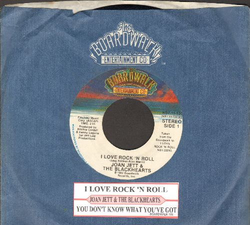 Jett, Joan & The Blackhearts - I Love You Love/You Don't now What You've Got (with juke box label and Boardwalk company sleeve) - EX8/ - 45 rpm Records