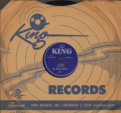 Jennings, Bill Quartet - Big Boy/Danny Boy (10 inch 78 rpm record with King company sleeve) - NM9/ - 78 rpm