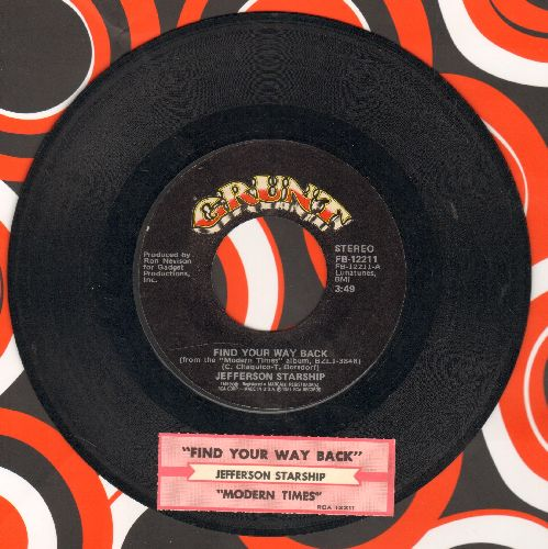 Jefferson Starship - Find Your Way Back/Modern Times (with juke box label) - EX8/ - 45 rpm Records
