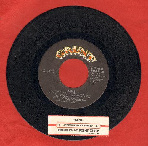 Jefferson Starship - Jane/Freedom At Point Zero (with juke box label) - NM9/ - 45 rpm Records