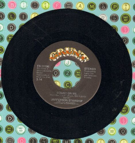 Jefferson Starship - Count On Me/Show Yourself - EX8/ - 45 rpm Records