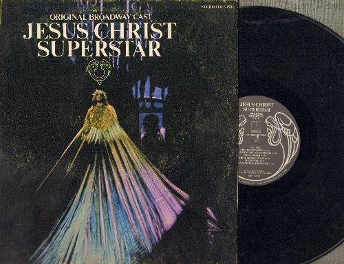Original Broadway Cast - Jesu Christ Superstar -Original Broadway Cast Recording (vinyl STEREO LP record, date-fold cover) - NM(/VG7 - LP Records