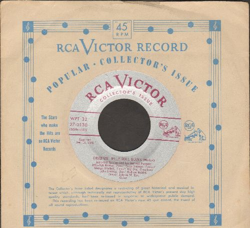 Morton, Jelly Roll & His Red Hot Peppers - Original Jelly-Roll Blues/Doctor Jazz (1950s issue of vintage recordings with RCA company sleeve) - EX8/ - 45 rpm Records