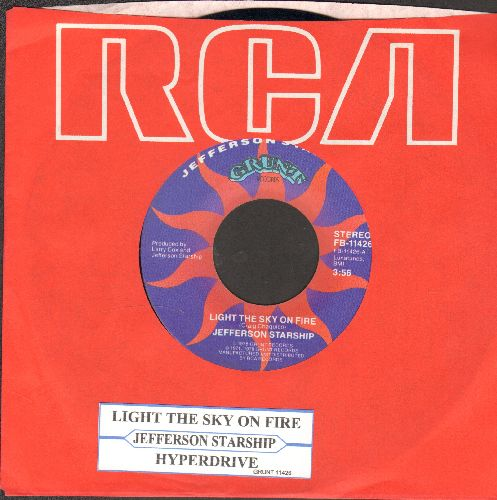 Jefferson Starship - Light The Sky On Fire/Hyperdrive (with juke box label and RCA company sleeve) - EX8/ - 45 rpm Records