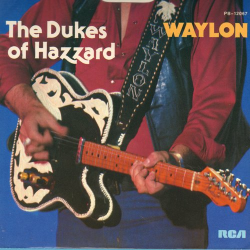 Waylon (Jennings) - Theme From The Dukes Of Hazzard (Good Ol' Boys)/It's Alright (with picture sleeve) - NM9/EX8 - 45 rpm Records