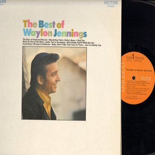 Jennings, Waylon - Best Of: Delia's Gone, MacArthur Park, Ruby Don't Take Your Love To Town, I Got You (Vinyl STEREO LP record) - NM9/NM9 - LP Records